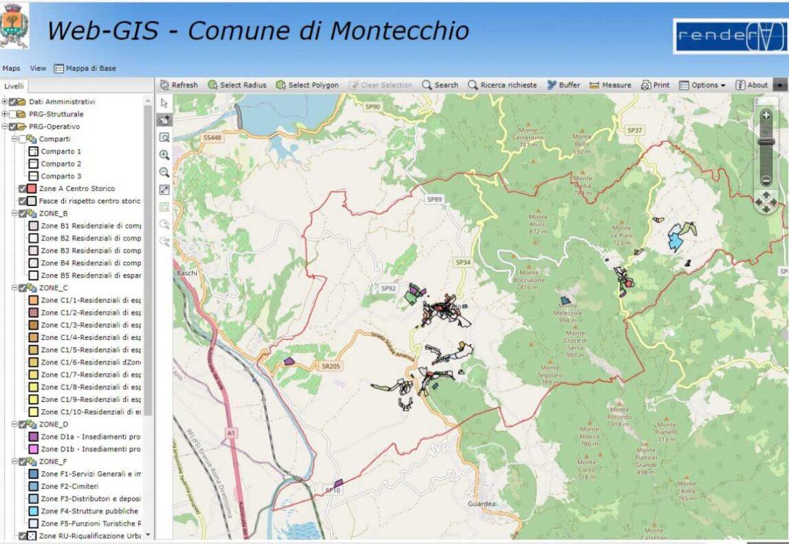 WEB-GIS PRG comune di montecchio tr